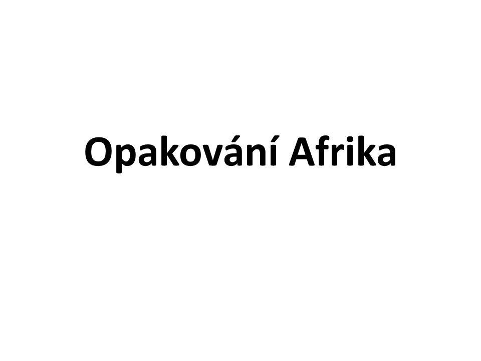 Opakování Afrika