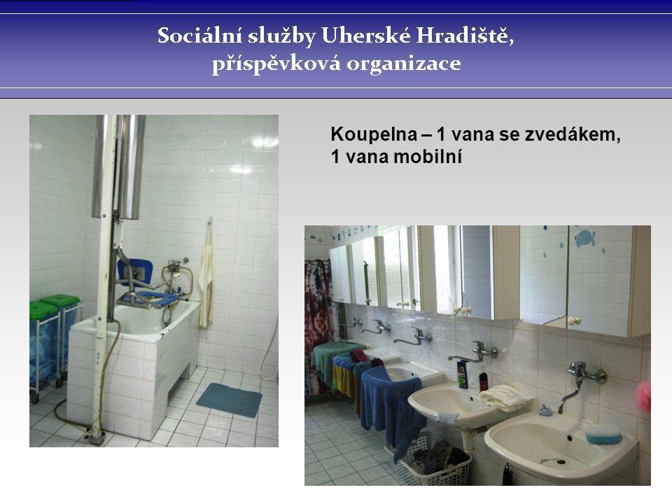 Koupelna – 1 vana se zvedákem, 1 vana mobilní