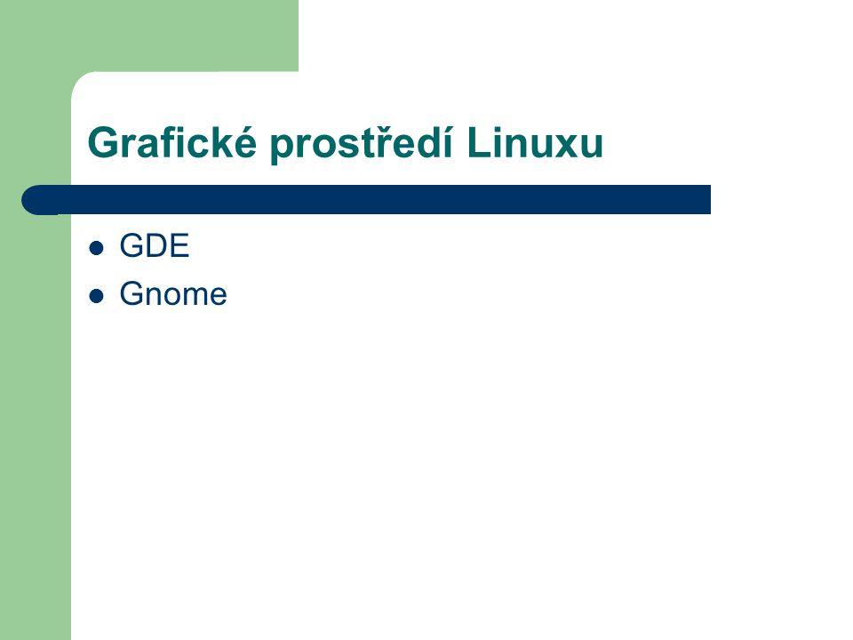 Grafické prostředí Linuxu GDE Gnome