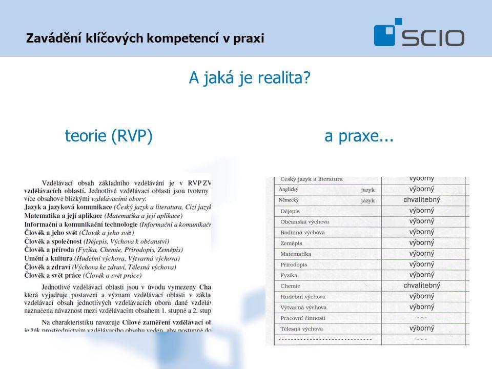 Zavádění klíčových kompetencí v praxi A jaká je realita? teorie (RVP)a praxe...
