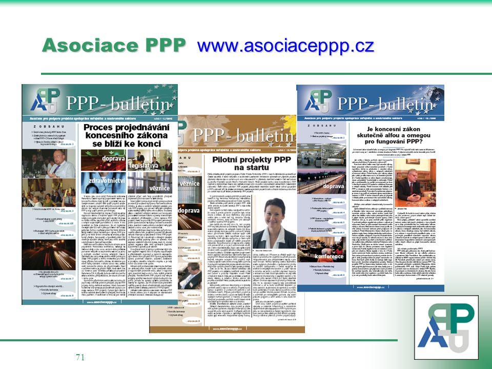 71 Asociace PPP www.asociaceppp.cz