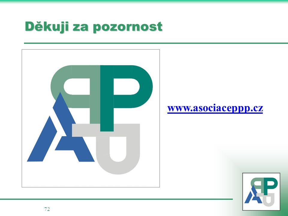 72 Děkuji za pozornost www.asociaceppp.cz