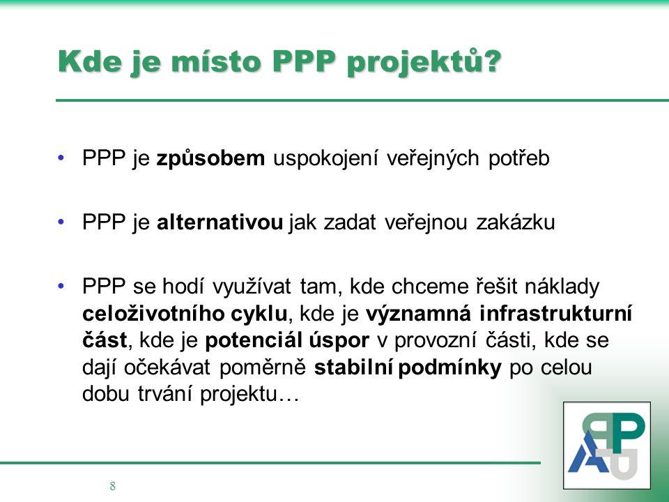 8 Kde je místo PPP projektů.