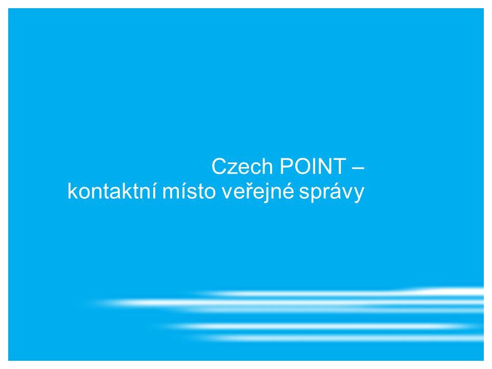 Czech POINT – kontaktní místo veřejné správy