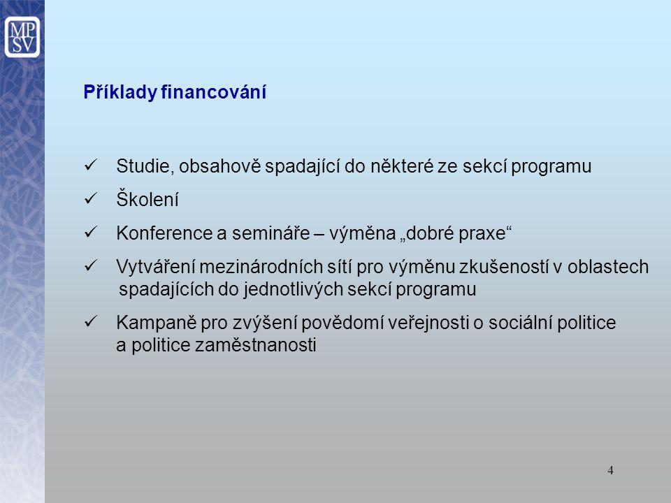 14 Internetové stránky MPSV http://www.mpsv.cz/cs/3452