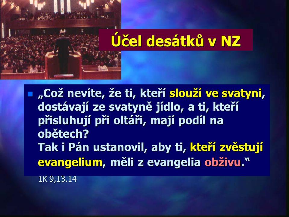 """Účel desátků v SZ n""""n""""n""""n""""Léviovcům dávám v Izraeli za dědictví všechny desátky za jejich službu, neboť oni konají službu při stanu setkávání. Zato dá"""