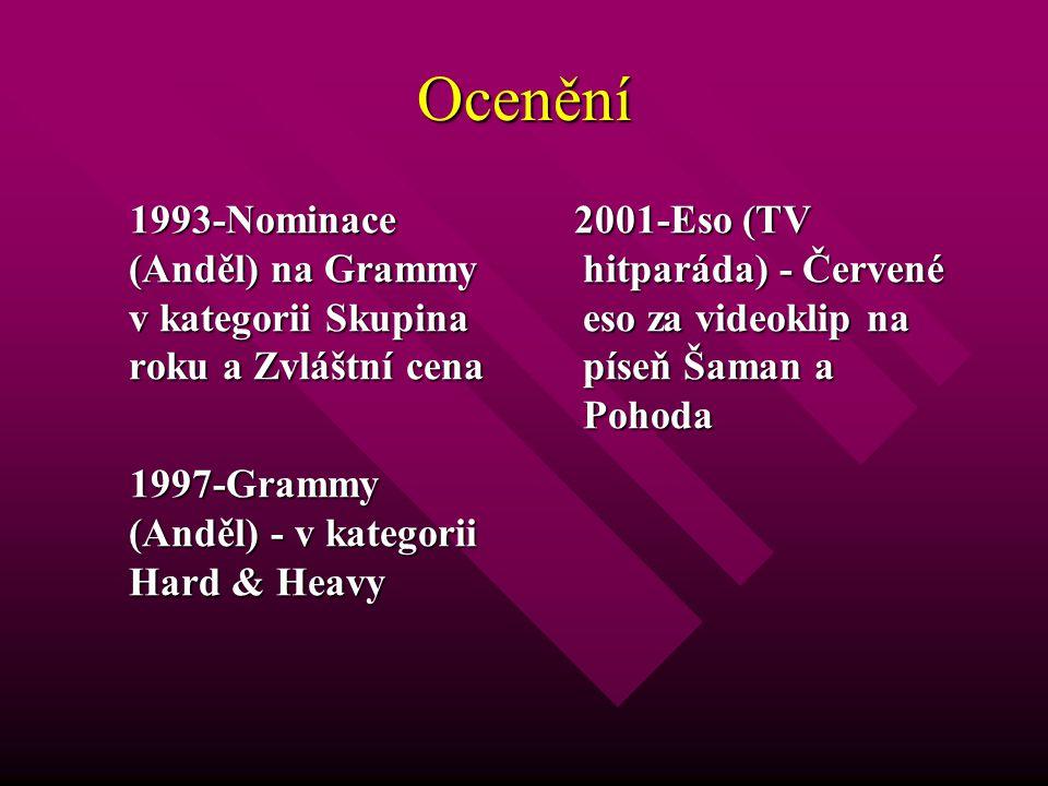 Ocenění 1993-Nominace (Anděl) na Grammy v kategorii Skupina roku a Zvláštní cena 1993-Nominace (Anděl) na Grammy v kategorii Skupina roku a Zvláštní c