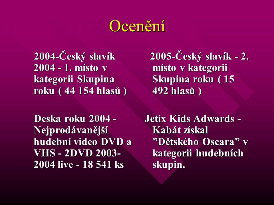 Ocenění 2004-Český slavík 2004 - 1. místo v kategorii Skupina roku ( 44 154 hlasů ) 2004-Český slavík 2004 - 1. místo v kategorii Skupina roku ( 44 15