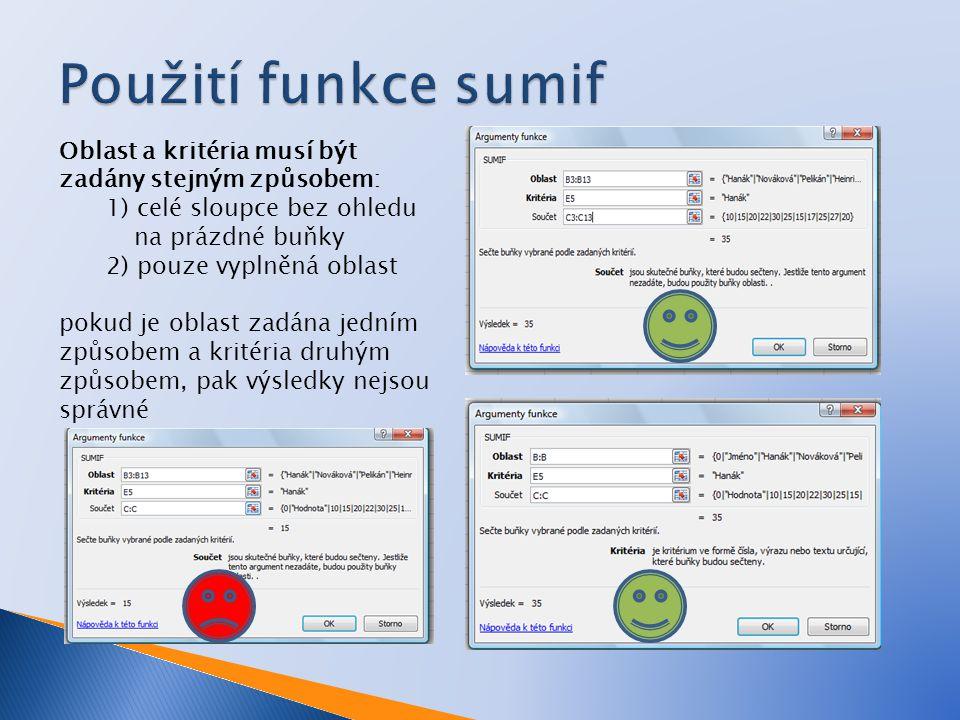 V Excelu od verze 2007 umožňuje podmíněný součet resp.