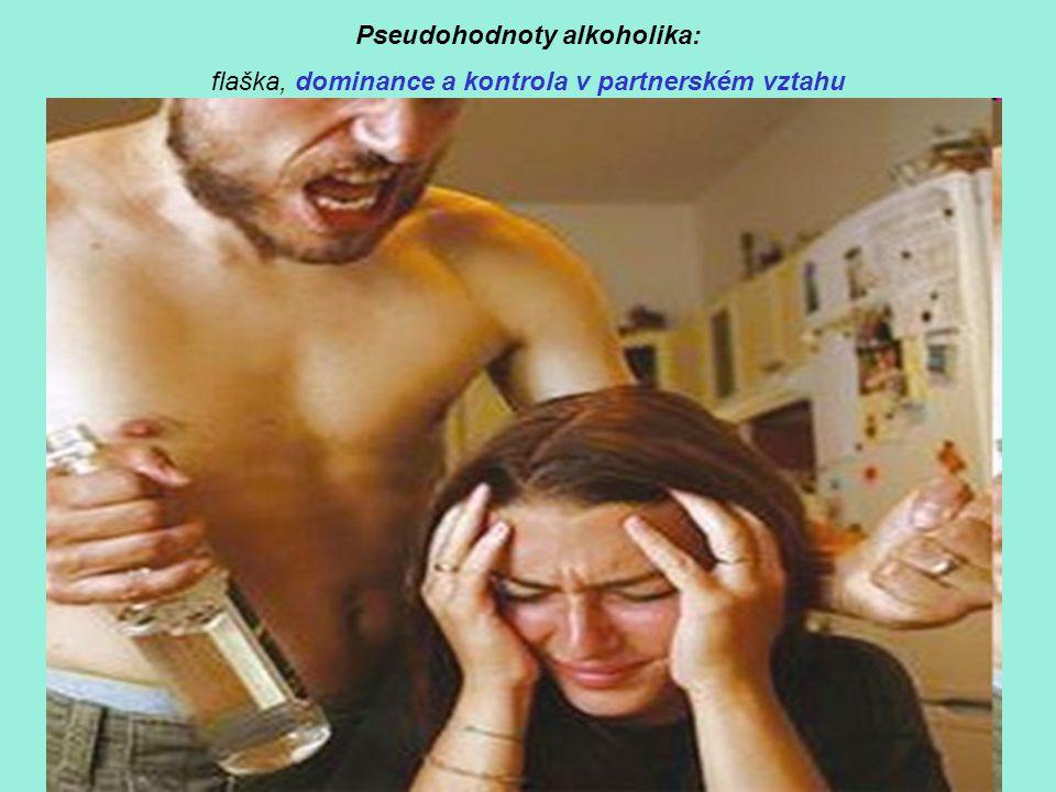 Pseudohodnoty alkoholika: flaška, dominance a kontrola v partnerském vztahu