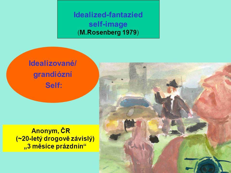 """Idealizované/ grandiózní Self: Idealized-fantazied self-image (M.Rosenberg 1979) Anonym, ČR (~20-letý drogově závislý) """"3 měsíce prázdnin"""""""