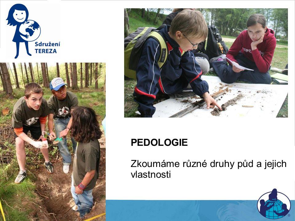 Pedologie PEDOLOGIE Zkoumáme různé druhy půd a jejich vlastnosti