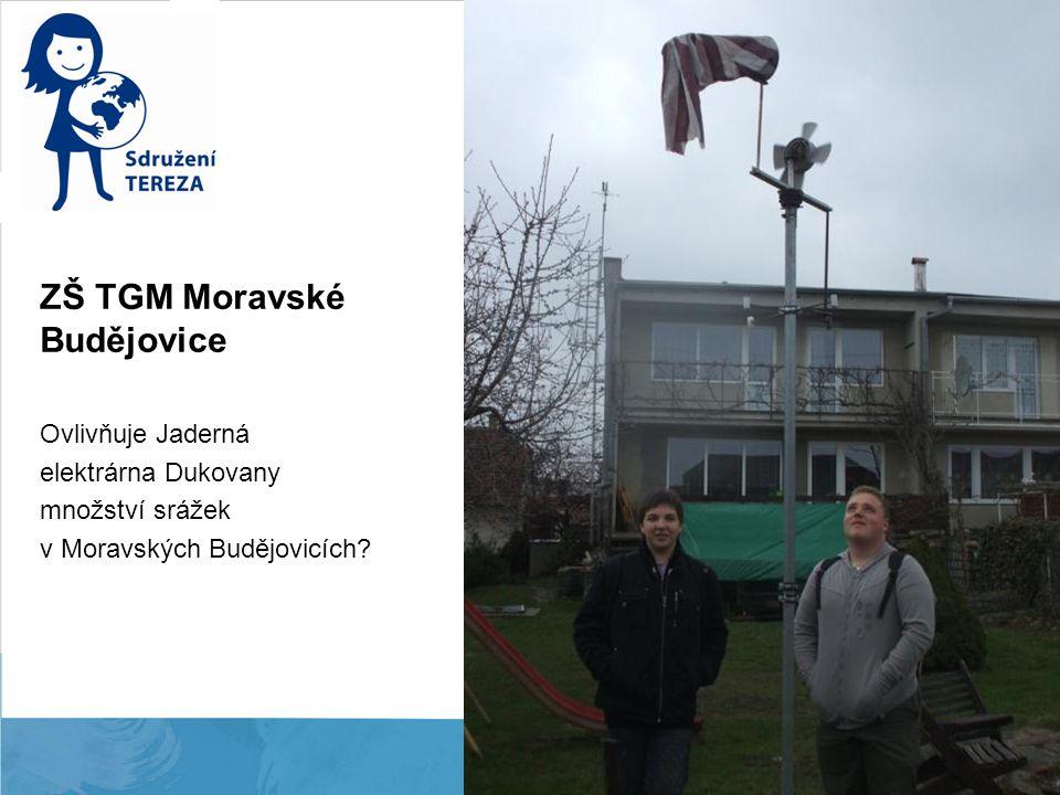 ZŠ TGM Moravské Budějovice Ovlivňuje Jaderná elektrárna Dukovany množství srážek v Moravských Budějovicích?