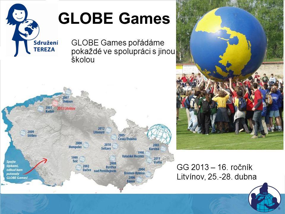 GLOBE Games GLOBE Games pořádáme pokaždé ve spolupráci s jinou školou GG 2013 – 16. ročník Litvínov, 25.-28. dubna