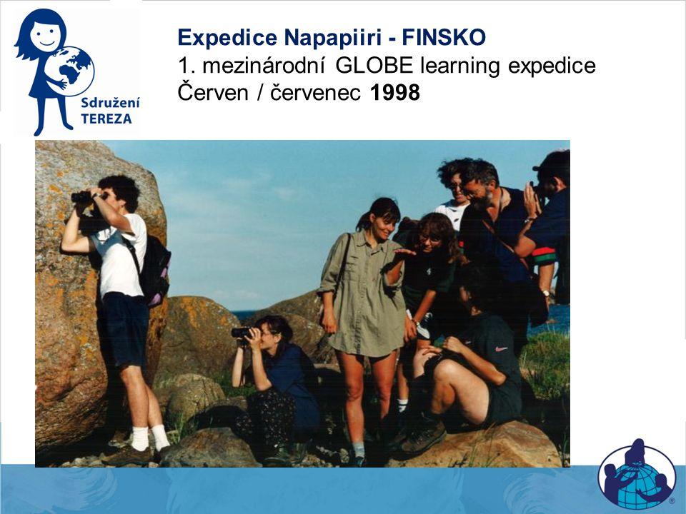 Expedice Napapiiri - FINSKO 1. mezinárodní GLOBE learning expedice Červen / červenec 1998