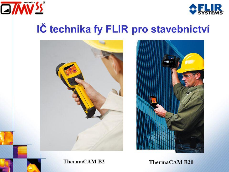 IČ technika fy FLIR pro stavebnictví ThermaCAM B2 ThermaCAM B20