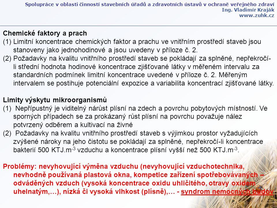 Spolupráce v oblasti činností stavebních úřadů a zdravotních ústavů v ochraně veřejného zdraví Ing.