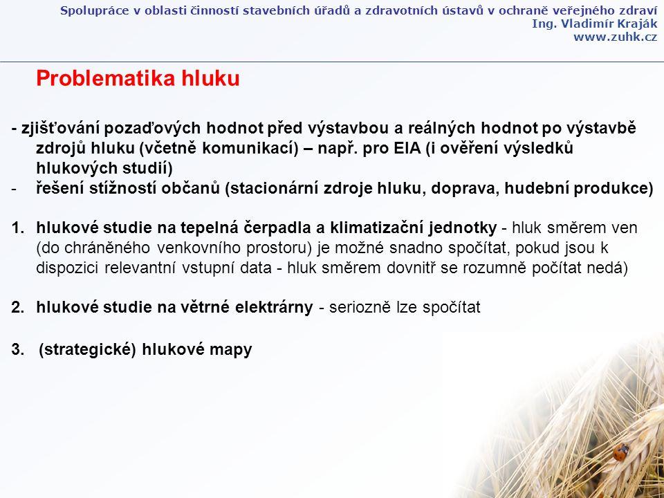 Spolupráce v oblasti činností stavebních úřadů a zdravotních ústavů v ochraně veřejného zdraví Ing. Vladimír Kraják www.zuhk.cz Problematika hluku - z