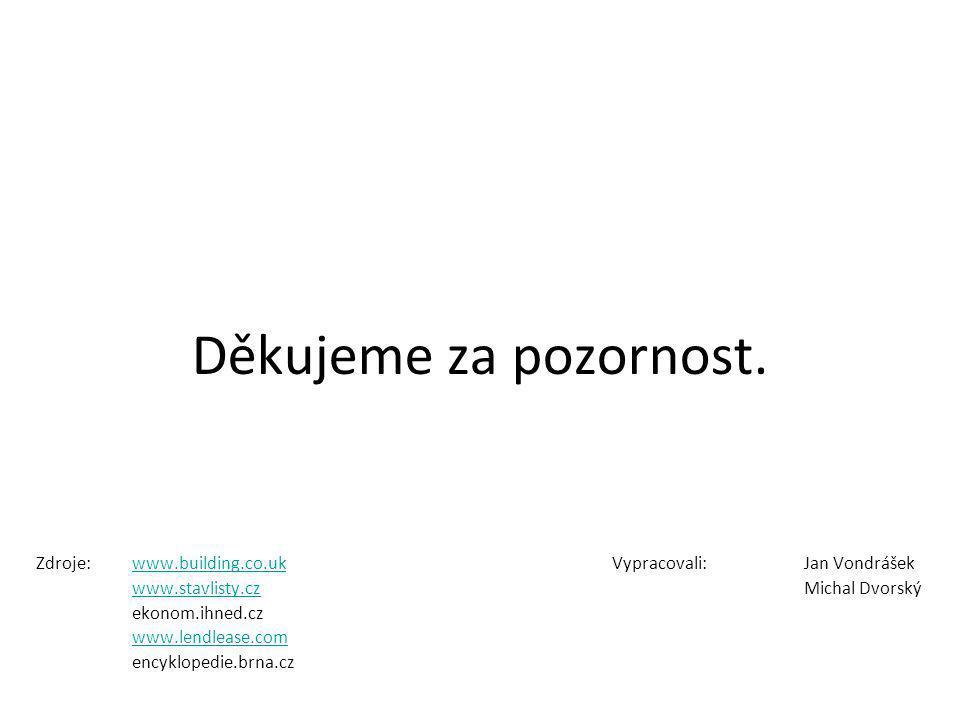 Děkujeme za pozornost. Zdroje:www.building.co.ukVypracovali:Jan Vondrášekwww.building.co.uk www.stavlisty.czwww.stavlisty.czMichal Dvorský ekonom.ihne