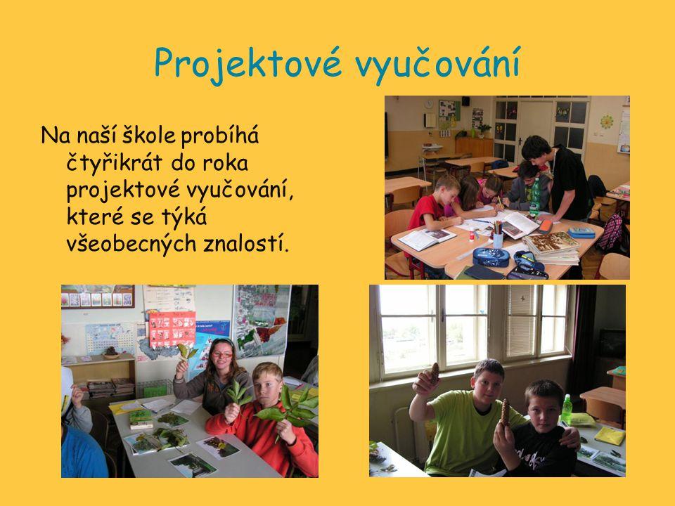 Projektové vyučování Na naší škole probíhá čtyřikrát do roka projektové vyučování, které se týká všeobecných znalostí.