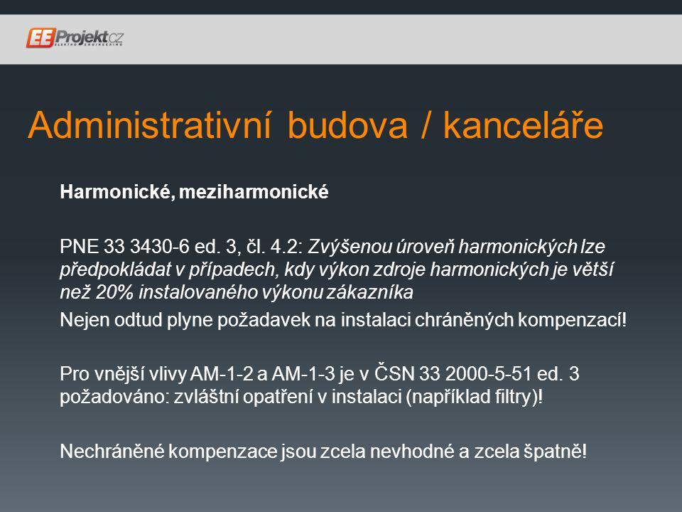 Administrativní budova / kanceláře Harmonické, meziharmonické PNE 33 3430-6 ed.