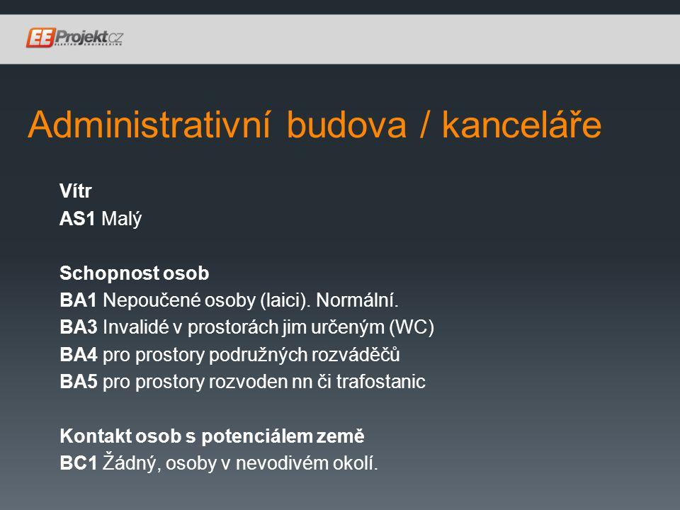 Administrativní budova / kanceláře Vítr AS1 Malý Schopnost osob BA1 Nepoučené osoby (laici).