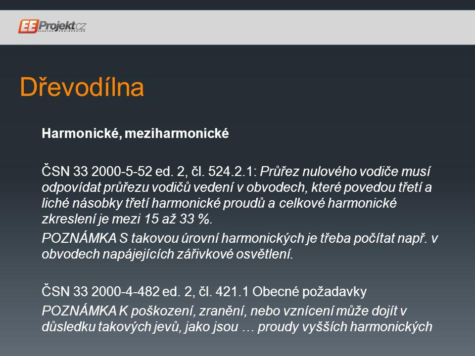 Dřevodílna Harmonické, meziharmonické ČSN 33 2000-5-52 ed.
