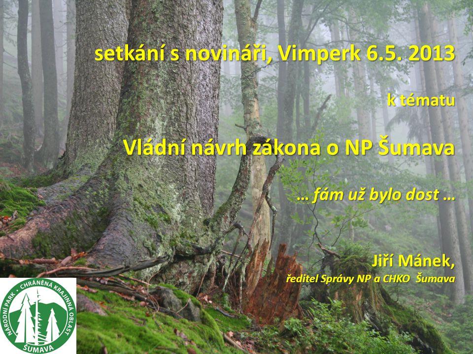 setkání s novináři, Vimperk 6.5.