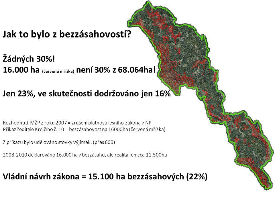 Rozhodnutí MŽP z roku 2007 = zrušení platnosti lesního zákona v NP Příkaz ředitele Krejčího č.