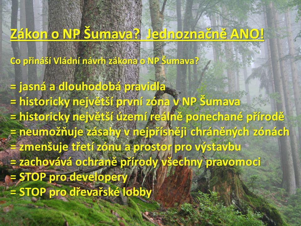 Zákon o NP Šumava. Jednoznačně ANO. Co přináší Vládní návrh zákona o NP Šumava.