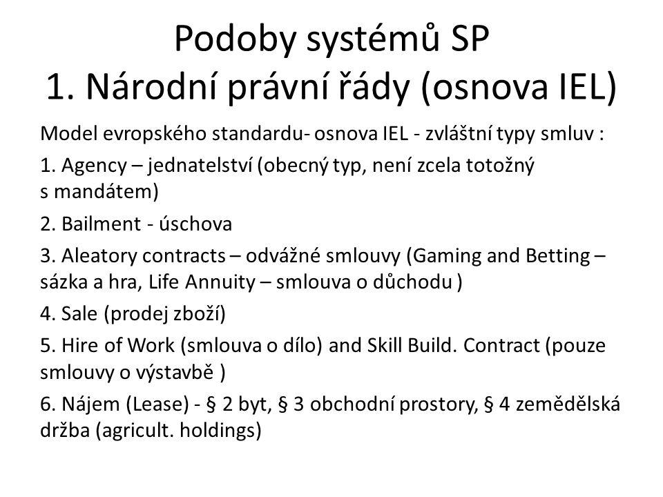 Podoby systémů SP 1.