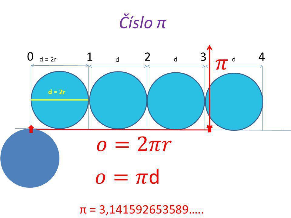 Délka kružnice a obvod kruhu d B S r k C A o = π · d o = 2 · π · r K výpočtům používáme π = 3,14 Příklad: Vypočítej délku kružnice, jestliže poloměr r = 6 cm.