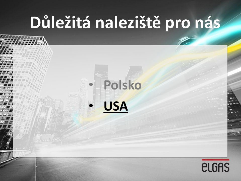 Důležitá naleziště pro nás • Polsko • USA