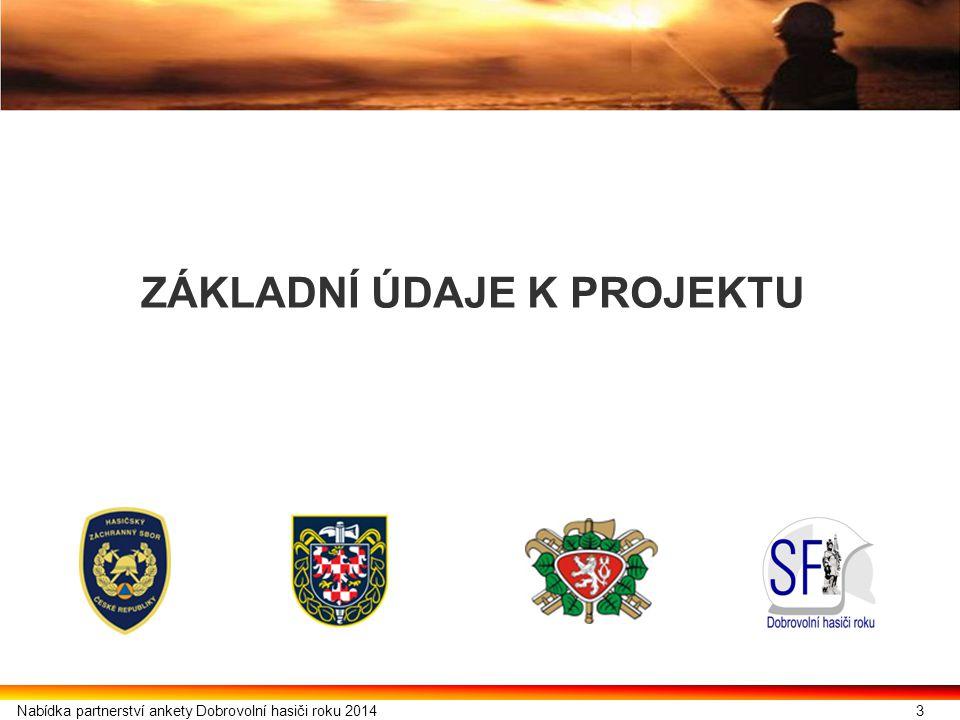 4 1.1.Cíle projektu  Ocenit dobrovolnou činnost hasičů.