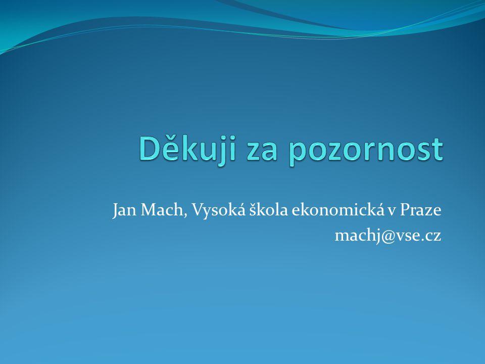 Jan Mach, Vysoká škola ekonomická v Praze machj@vse.cz