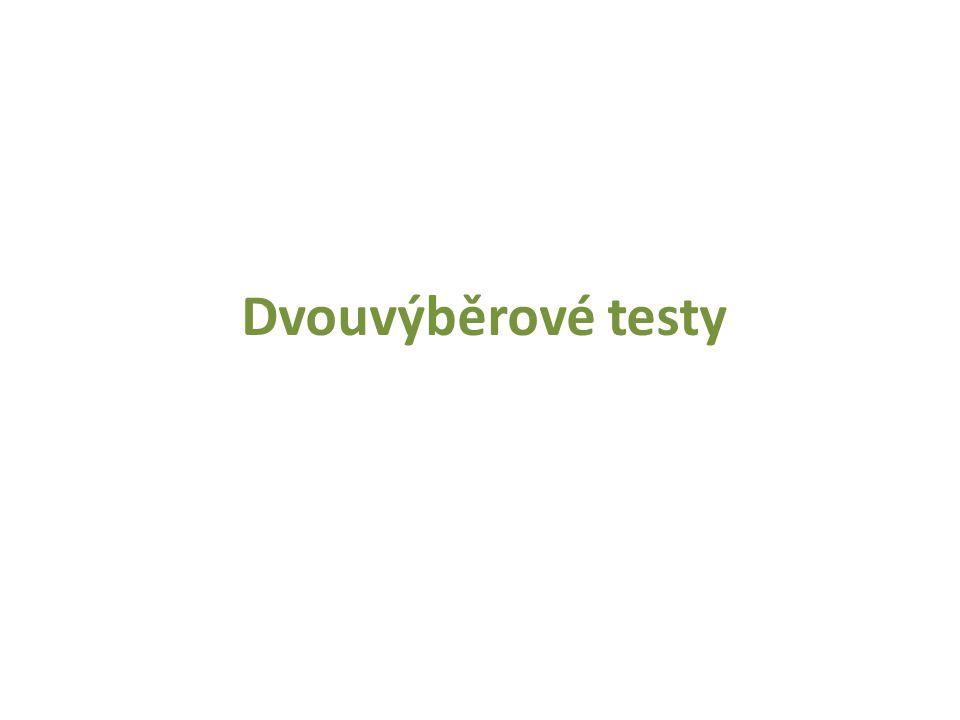 Dvouvýběrové testy