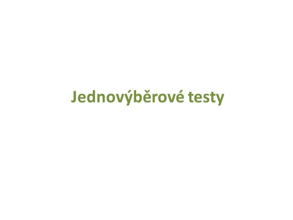 Jednovýběrové testy
