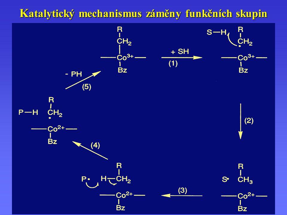 K atalytický mechanismus záměny funkčních skupin