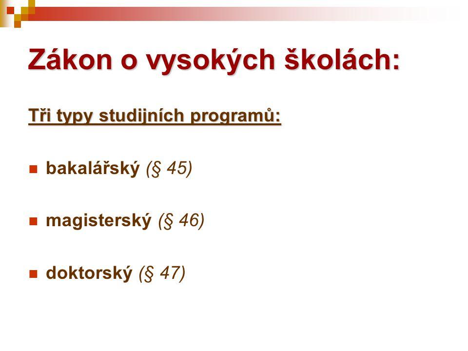 Minimální standardy AK (září 2003) 7) U doktorského programu se nevyžadují údaje a doklady v porovnání s prezenční formou studia.