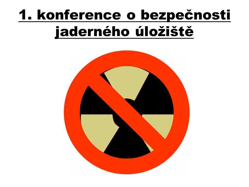 1. konference o bezpečnosti jaderného úložiště