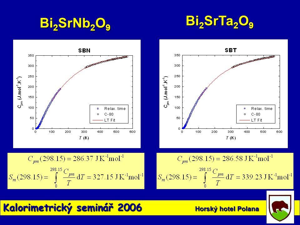 Kalorimetrický seminář 2006 Horský hotel Polana Bi 2 SrNb 2 O 9 Bi 2 SrTa 2 O 9