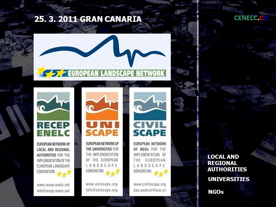 LOCAL AND REGIONAL AUTHORITIES UNIVERSITIES NGOs GRAN CANARIA CENELC.CZ