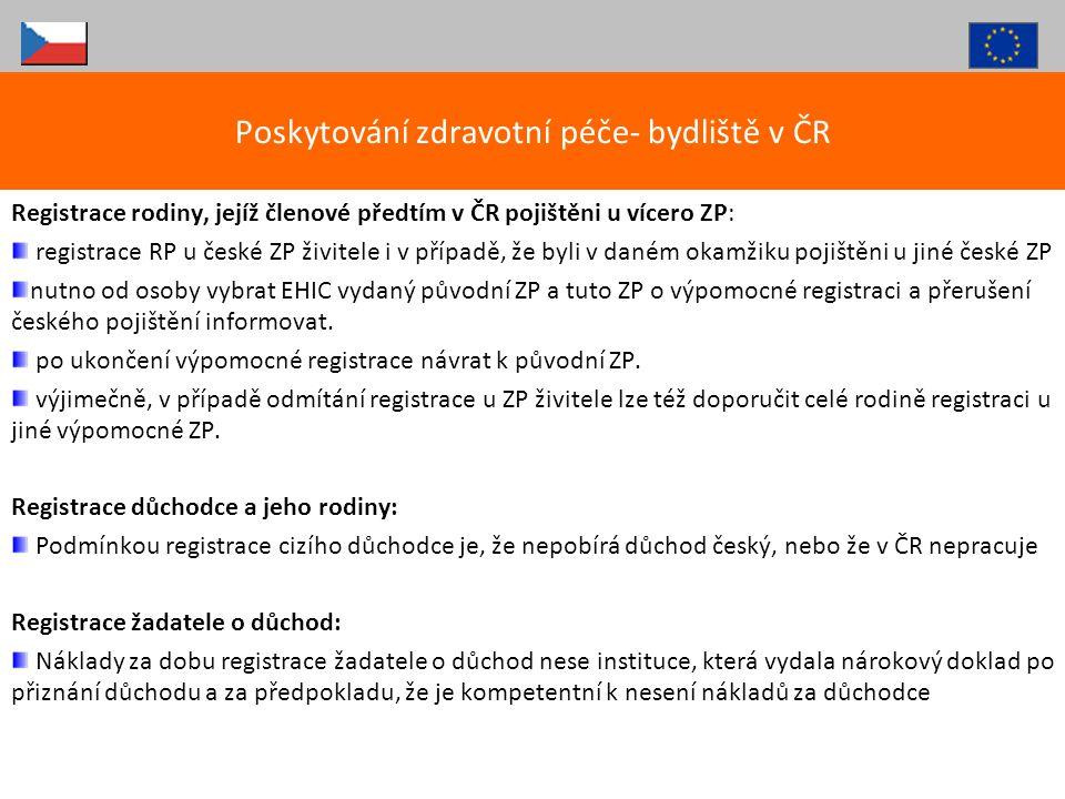 Registrace rodiny, jejíž členové předtím v ČR pojištěni u vícero ZP: registrace RP u české ZP živitele i v případě, že byli v daném okamžiku pojištěni