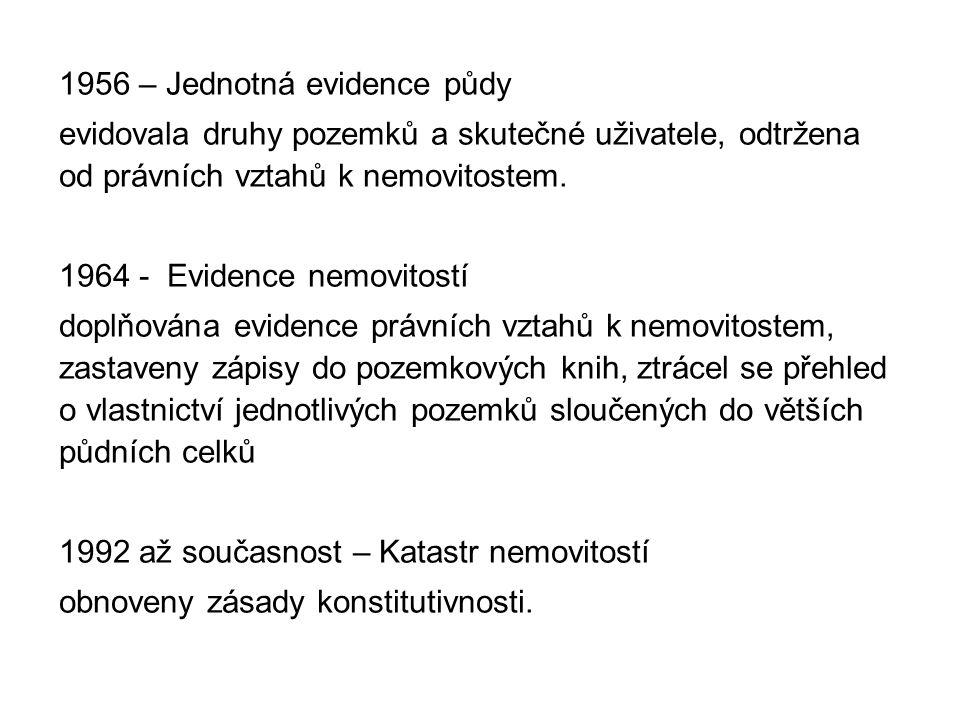 Současné platné právní předpisy pro KN Zákon 344/1992 Sb.