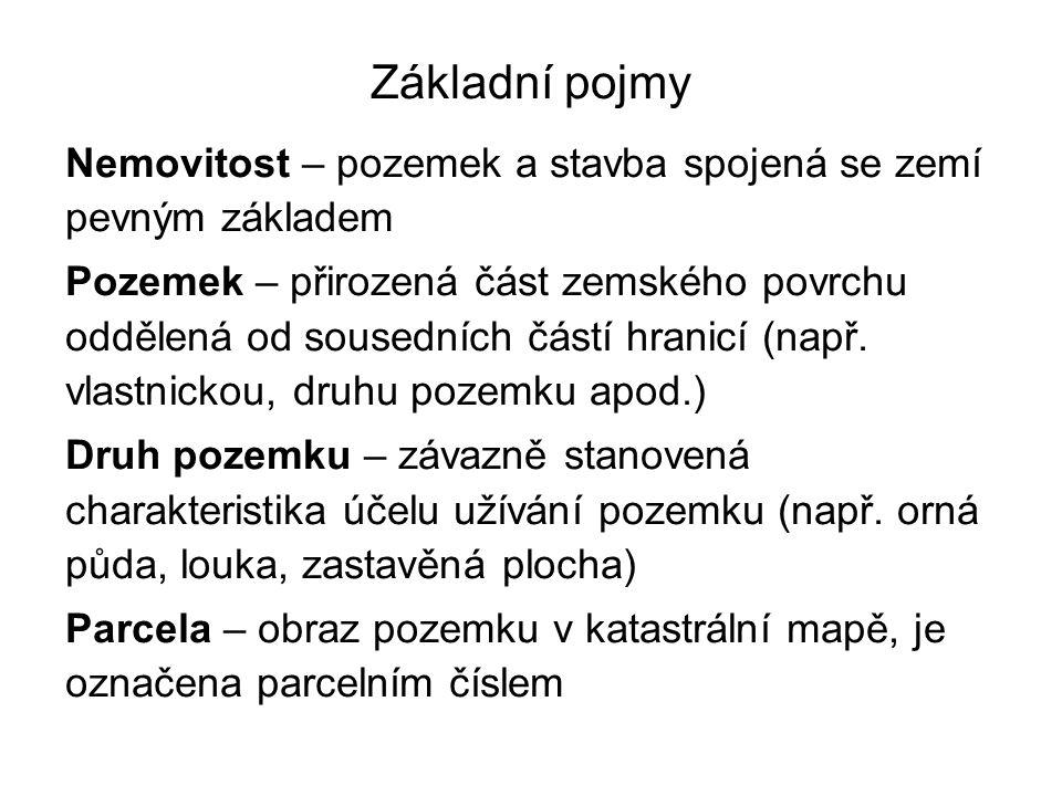 Organizace zeměměřické služby v ČR Činnost v zeměměřictví vykonávají : Orgány státní správy (dány zákonem 359/1992 Sb.