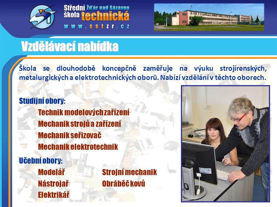 Škola se dlouhodobě koncepčně zaměřuje na výuku strojírenských, metalurgických a elektrotechnických oborů. Nabízí vzdělání v těchto oborech. Vzdělávac