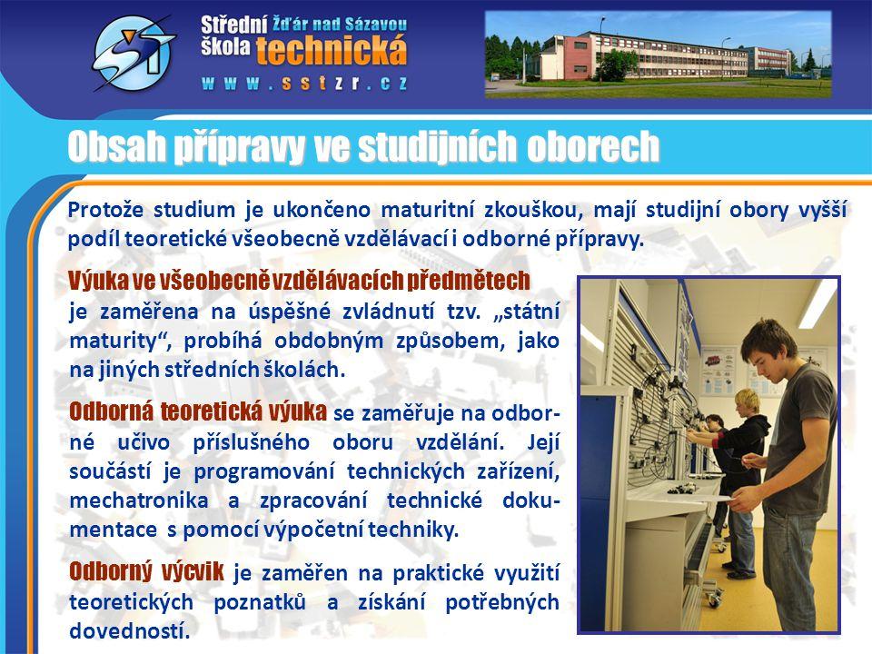 Přínos projektu Mechatronika pro odborné vzdělávání na škole Realizací projektu získává vzdělávací nabídka školy nový, moderní charakter.