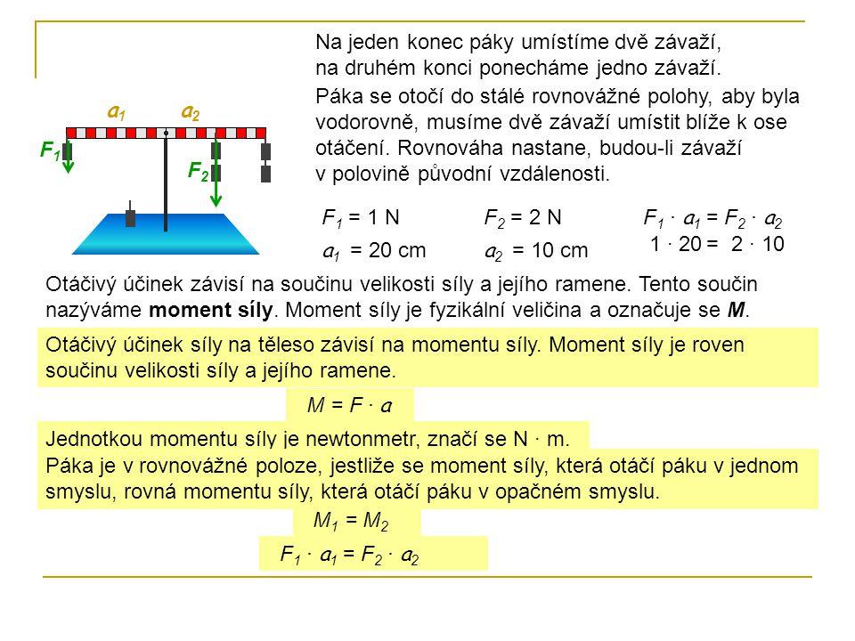 Příklady: 1.Doplň zbývající údaje tak, aby na páce nastala rovnováha.