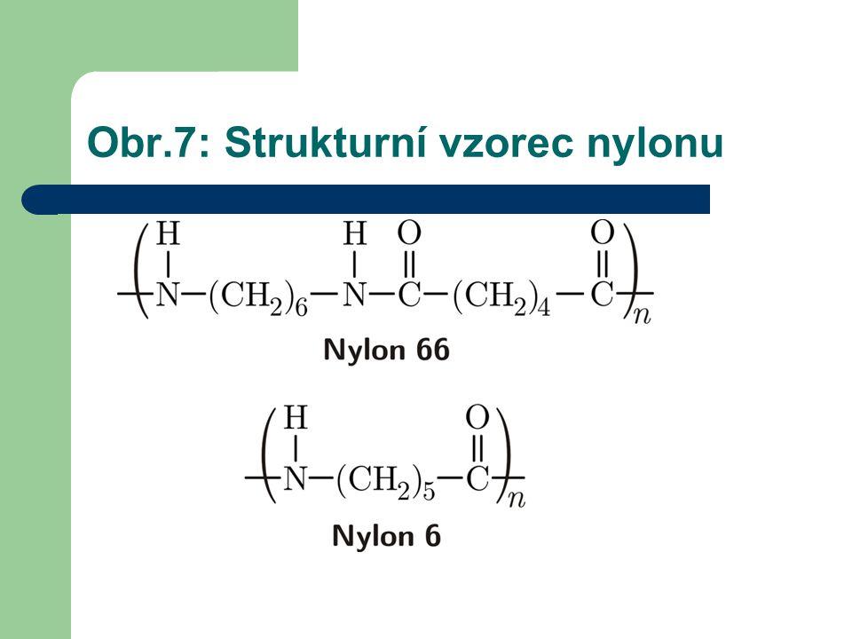 Obr.7: Strukturní vzorec nylonu