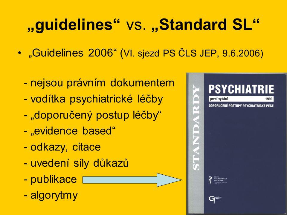 """guidelines vs.""Standard SL •""Guidelines 2006 ( VI."